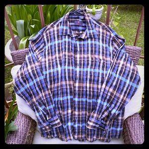HAUPT Men's Ruching Button Down Shirt